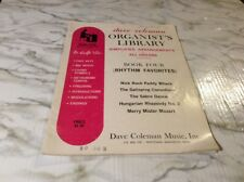 Dave Coleman Organist Library Simplified All Organs Book 4 Rhythm Favorites