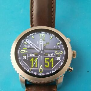 Fossil Gen 3 Q Explorist 44mm Stainless Steel Case with Brown Classic Buckle
