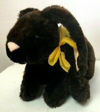 "Fao Schwarz 15"" Dark Brown Rabbit Plush Bunny"