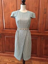 Runway Prada Guipure  Lace Celadon Dress Size 44 wedding mother of the bride