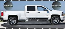 New 2014-2016 Chevy Silverado Rally Rocker Side Stripe Decals Graphics X Fader X