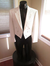 VINTAGE WHITE TAIL COAT BY CHRISTIAN DIOR 37R