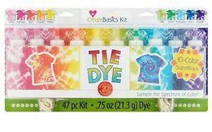 Create Basics Tie Dye Kit 47 Piece 10 Color Super Pack New