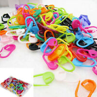 100pcs Colorful Knitting Weave Crochet Locking Stitch Needle Clip Mark HPT