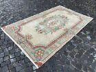 Wool rug, Turkish rug, Vintage rug, Handmade rug, Large rug, Carpet 5,6 x 9,0 ft
