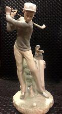Lladro Figurine #4824 GOLFER MAN MALE GOLF SWINGING CLUB Mint condition NO Box