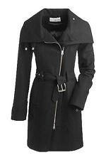 NWT Esprit Women's Designer Fashion Black Wool Long Coat, size 2, RTL: $389