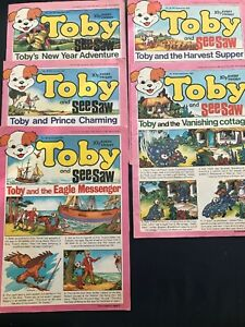 Toby And SeeSaw Comic : Various From 1977