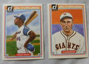 1983 Donruss Hall of Fame Heroes Baseball Card Pick one