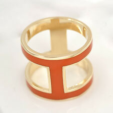 Orange H Enamel Copper Scarf Ring Buckle Silk Scarf Holder Scarf Clip Jewelry