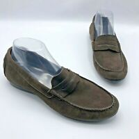 Munro M555126 Ramie Women Brown Suede Penny Loafer Driving Moc Shoe Size 10W