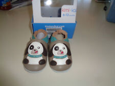 Kimi + Kai 6-12 Months Soft Sole Leather Crib Bootie Baby Shoes - Playful Puppy