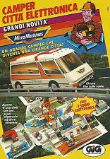 X0047 MicroMachines Camper Città elett. - GIG - Pubblicità 1992 - Vintage Advert