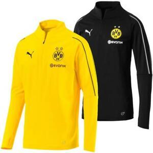 Puma BVB Borussia Dortmund Herren 1/4 Zip Training Top Langarm