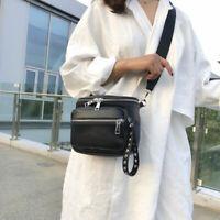 Black Rivet Shoulder Bag Leather Crossbody Bag Fashion Purse Tote Ladies Women's