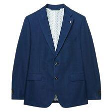 Gant The Delave Cotton Linen Classic Navy Blue Jacket Blazer Size 38R Reg