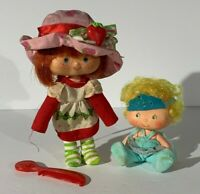 "Vintage 1979 Strawberry Shortcake And Berry Ballerina 5"" Dolls"