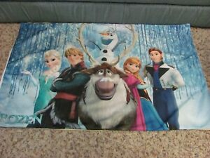 Disney Frozen Bedding Pillowcase Sham Cover Elsa Anna Olaf Kristoff Sven Hans