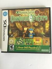 Professor Layton & The Unwound Future DS CiB Complete Authentic