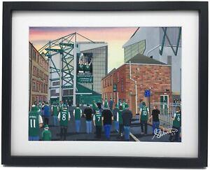 Hibernian F.C Easter Road Stadium, High Quality Framed Art Print Approx A4