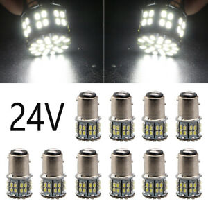 10Pcs 24V 1157 BAY15D P21/5W LED Bulb Auto Turn Signal Car Brake Reverse Lights