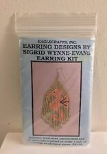 NOS American Indian Glass Beads Earrings Kit Sigrid Wynne-Evans Gold Seahorse