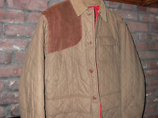 Vintage Polo Ralph Lauren Barn Suede Accent Quilted Jacket Sz M EUC