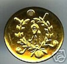 old goldplated UNIFORM  Button GOLF Golfer GOLFING