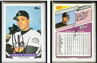 Chris Jones Signed 1993 Topps Traded #102T Card Colorado Rockies Auto Autograph