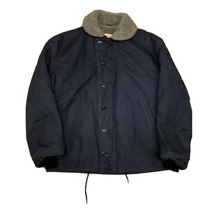 Golden Fleece Navy Blue N-1 Deck Jacket Size 44 Vintage 70s