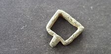 Superb stirrup type Medieval bronze buckle, Please read description. L106L