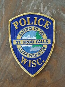 St. Croix Falls Wisconsin Police Sheriff Patch Old