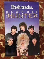 """Blondie The Hunter rare promotional poster from 1982 22""""x35"""" Debbie Harry"""