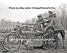 Old Antique World War 1 U.S. Army Harley Davidson Motorcycle Machine Gun Photo