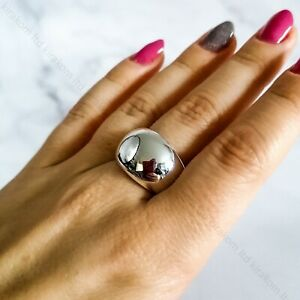 Silver Plated Chunky Egg Style Ring Adjustable Other Bloggers Stories Mango