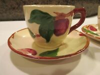 Franciscan Apple 2 Cups 2 Saucers 2 Sets USA California Vintage Lot 4 #A106