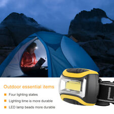 4 Modes COB LED Headlamp Headlight Head Lamp Light Torch Flashlight Portable AAA