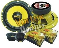 "Pyle Car Audio 6.5"" 400W Speakers 100W Tweeter Pair Stereo Component System Set"
