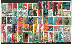"""SWITZERLAND """" PRO PATRIA """" semi postals varied group 65 stamps o upgiven col"""