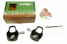 Wellgo R292 Clipless Road Bike Pedals with RC7A Look Keo Compatible Cleats,135g