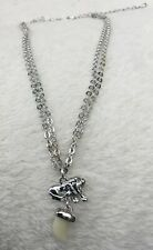 BNWT Silver Chain Lion & Cream Tooth Pendant Fashion Jewellery Necklace