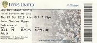 Ticket - Leeds United v Blackburn Rovers 29.10.15