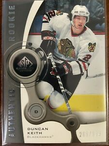 2005-06 UPPER DECK SP GAME USED #114 DUNCAN KEITH RC 269/999 CHICAGO BLACKHAWKS