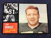 M4-96 FOOTBALL CARD - JIM RINGO GREEN BAY PACKERS - 1962 TOPPS -CARD #68