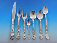 Violet by Wallace Sterling Silver Flatware Service for 8 Set 60 pcs no monograms