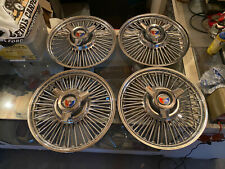 "1963 Ford Galaxie 500 14"" Wire Spinner Hubcaps Set of 4 1961 1962 1964"