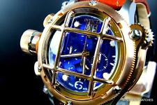Mens Invicta Russian Diver Nautilus Chronograph Rose Gold Blue Swiss Watch New