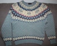 Woolrich Fair Isle Nordic Wool Ski Snowflake Sweater Ladies sz S