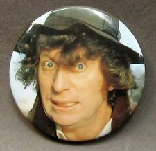 "vintage TOM BAKER as DOCTOR WHO color photo 2.25"" pinback button"