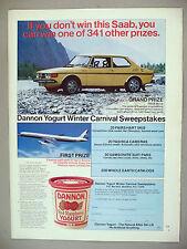 Saab 99 LE PRINT AD - 1974 ~ Dannon Yogurt contest
